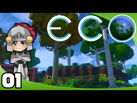 Let's Play Eco - Ep. 1: A Starter Shack   Eco GangZ Multiplayer Gameplay