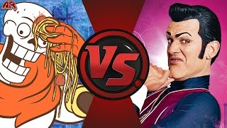 PAPYRUS vs ROBBIE ROTTEN! (Undertale vs Lazy Town) Cartoon Fight Club Bonus Episode 6