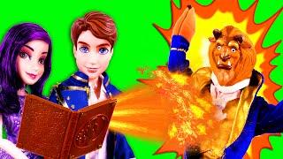 Descendants Mal & Ben Have Magic Spell Trouble! With Descendants Evie, Jay, Carlos & Frozen Anna