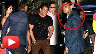 Salman Khan Hugs and Kisses Katrina Kaif Outside Mehboob Studio
