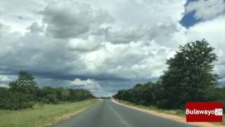 Police roadblock along Bulawayo-Beitbridge (A6) - Mbalabala