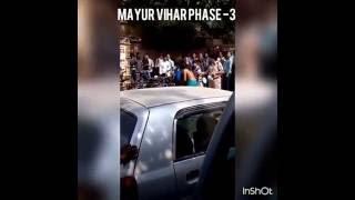 Girl strips in front of public in Delhi Mayur Vihar