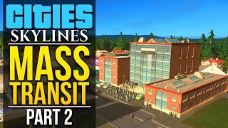 Cities Skylines: Mass Transit | PART 2 | OUR FIRST BUS LINES