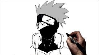 How to Draw Kakashi I Step by Step | Naruto