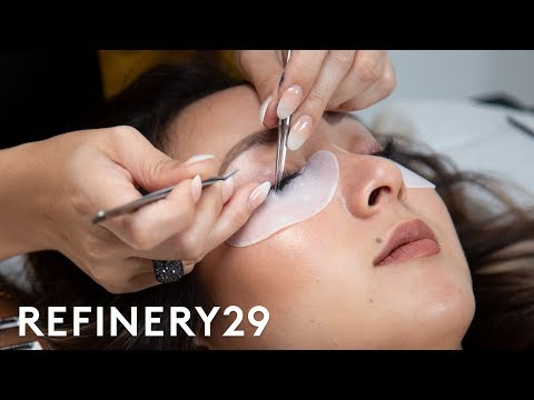 I Got 200 Eyelash Extensions For The First Time Macro Beauty Refinery29