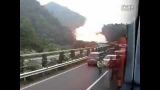 انفجار ناقلة غاز في الصين مشابه مايكون إنفجار بالرياض