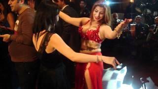 BonBon dancing with Aziza of Cairo in an Egyptian Wedding