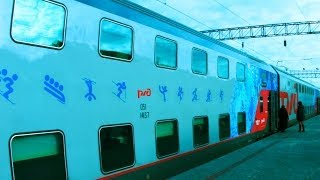 """Double-Decker Train """"Moscow-Sochi"""" to Olympics-2014. """"Real Russia"""" ep.72"""