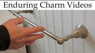 Towel Bars: How To Tighten Or Remove