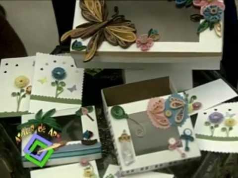 Atelier TV Laura Meléndez. Quilling o Filigrana. Arte con cintas de papel.mp4