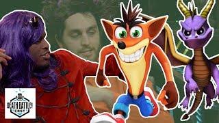 Crash vs Spyro Sneak Peek! | DEATH BATTLE Cast