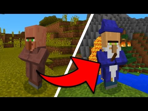 NEW VILLAGER BOSS MOB in Minecraft Pocket Edition (Magician Supreme Boss Addon)