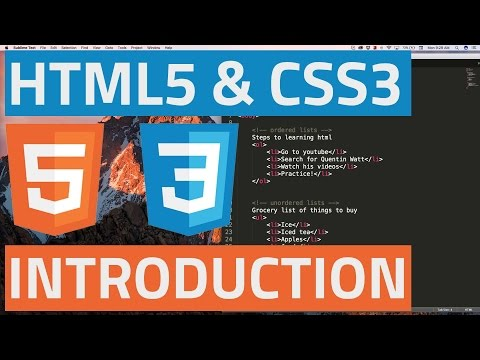 HTML5 and CSS3 beginner tutorial 1 - Introduction
