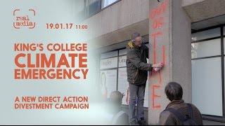 Spray Paint Action by Kings College Climate Emergency