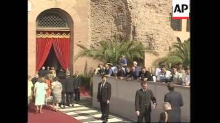 Arrivals for wedding of grandson of ex-king and actress girlfriend