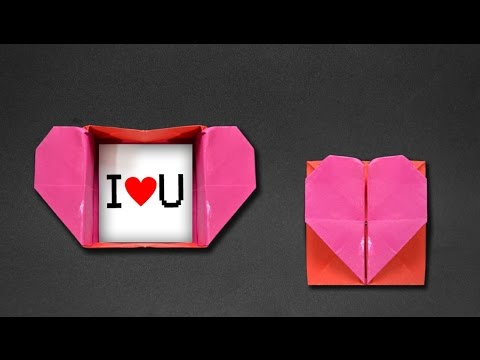 Origami Heart Box & Envelope