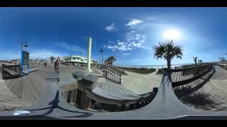 A 360° video view on sunny day on the Myrtle Beach Boardwalk