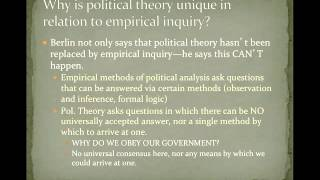 POS 201: Lecture 1-Political Theory and Political Science