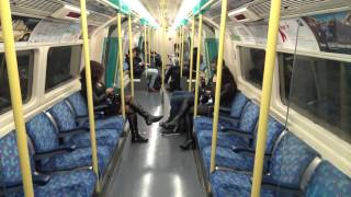 Journey On The  Night Tube On The Jubilee Line  ( 1996 Tube Stock )