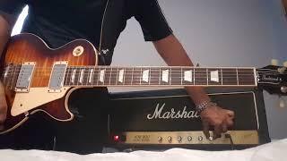Danny Rosa,  Gibson Les Paul,  Maxon 808, Boss DD7, Marshall JCM800 2204, Carvin 212 open back Celes