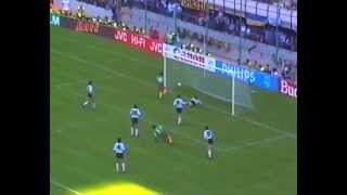 WORLD CUP- ITALY 1990 - ARGENTINA V CAMEROONS - OPENING MATCH HIGHLIGHTS - SAINT & GREAVSIE