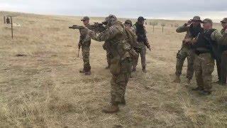 Militia Training:  shoot house drills