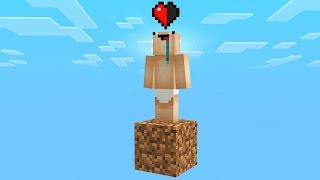 SURVIVING WITH HALF A HEART IN MINECRAFT!