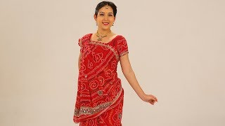 How To Wear A Saree To Look Slim Step By Step with Thin Perfect Pleats. Rajasthani Style
