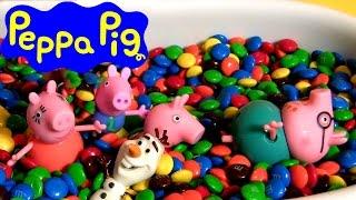 Pig George Nadando na Piscina M&M
