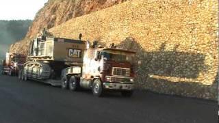 ZOUKIE TRUCKING TRANSPORTS CAT 385 JAMAICA push pull trucking