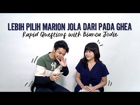 Bianca Jodie Lebih Pilih Marion Jola Dari Pada Ghea | Rapid Questions with Bianca Jodie