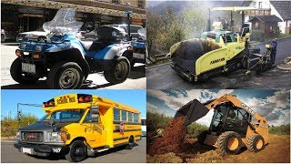Learning Street Vehicles Names and Sounds for Kids - Fire Trucks Construction Vehicles Tractor Bus