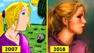 Artists Challenge Themselves To Redraw Their Old 'Crappy' Drawings, Prove That Practice Makes Perfec