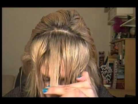 Corte Flequillo Tupe o Copete de lado degrafilado y recto How to cut fringe and bangs