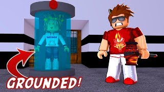 IF MY DAUGHTER LOSES, SHE'S GROUNDED! -- ROBLOX Flee The Facility