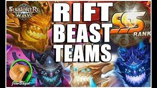 SUMMONERS WAR : How To Build SSS Rift Beast Teams