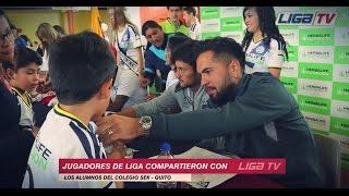 LIGA SOCIAL l Jugadores visitaron Colegio SEK Quito