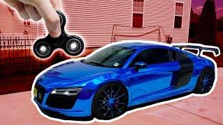 1000 MPH FIDGET SPINNER VS AUDI R8 (SUPERCAR)