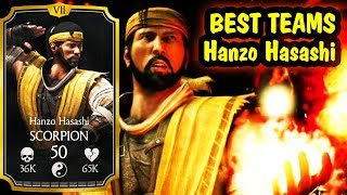 Best Hanzo Hasashi Teams in MKX Mobile. AWESOME LIVE Stream + Free Souls Giveaway.