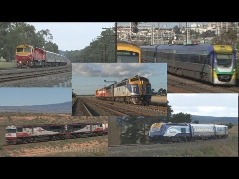 Australian trains : DMU railcars EMU's and diesel locomotives