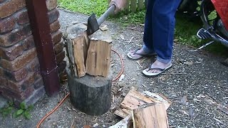 How To Easily Split Really Hard Firewood.