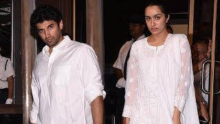 Aditya Roy Kapur And Shraddha Kapoor Snapped At Aishwarya Rai Bachchan