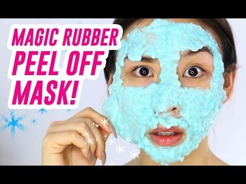 Magic Rubber Peel Off Mask!!     TINA TRIES IT