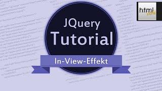 CSS3/jQuery Tutorial: Animierte Webseite mit In-View-Effekt // deutsch