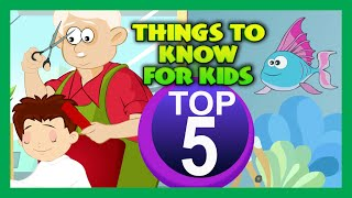 Top Five - THINGS TO KNOW FOR KIDS | Learning Videos For Kids | Science Education | Animation