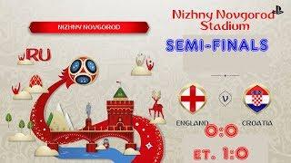 England - Croatia,  FIFA 18 World Cup 2018 Russia Prediction Games (Semi-Finals)