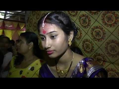 Wedding under flood water in Gohpur, Assam