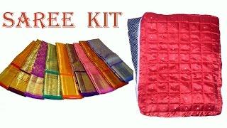 saree kit making DIY | How to make saree kit to carry your sarees very easily