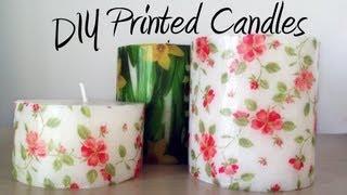 DIY tutorial: Decorate candles with paper napkins / Decorar velas con servilletas de papel