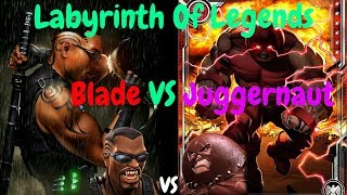 Labyrinth Of Legends Juggernaut vs Blade! - Marvel Contest Of Champions